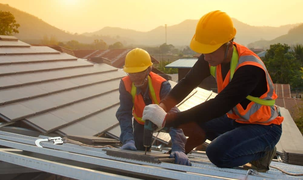 The best choice out of all specialists is a roofing contractor. They are licensed and trained to work on special cases and unique roofs.